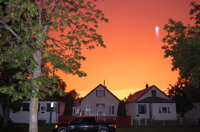 Evening rainbow over Winnipeg, July 21- 9:30 pm Winnipeg, MB