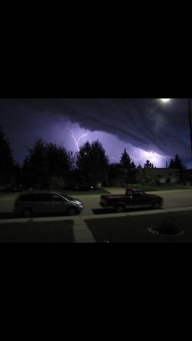 Lit up sky Lethbridge, Alberta Canada
