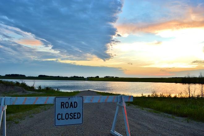 Road Closed Ituna, SK