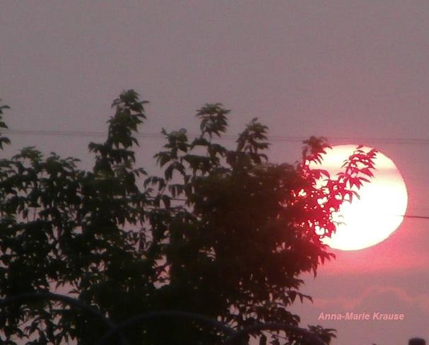 coucher du soleil Saint-Pierre-de-la-Rivière-du-Sud, QC