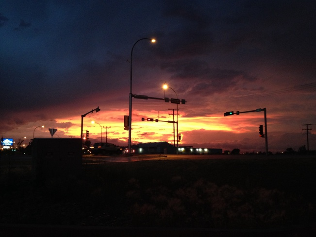 Post Storm Sunset! Estevan, Saskatchewan Canada