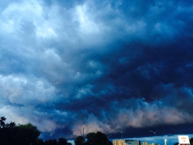 Sky in Kingston, ontario just before. 8:30 p.m. Sunday night. Kingston, ON