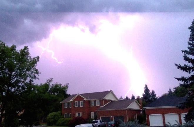 Crazy lighting storm Burlington, ON