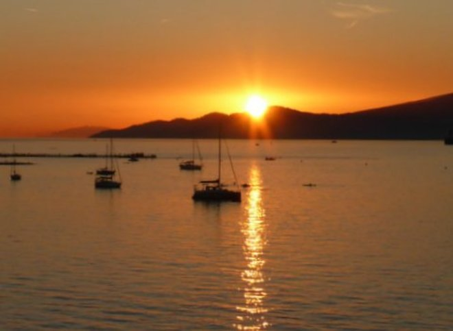English Bay Sunset Vancouver, BC