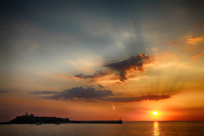 Peel Isle of Man sunsets Marine Parade, Isle of Man