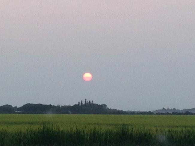 beautiful sun Brokenhead, Manitoba Canada