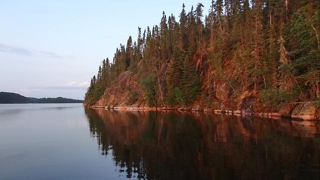 Sundown on Cedar Lake Thunder Bay, ON