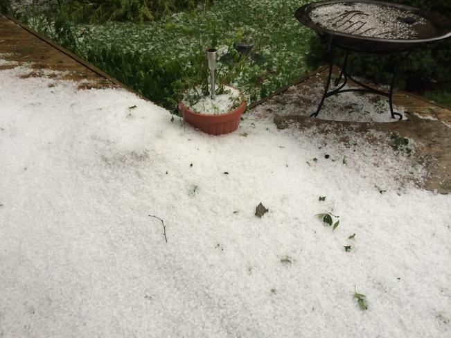 crazy hail storm Columbus, Ontario Canada