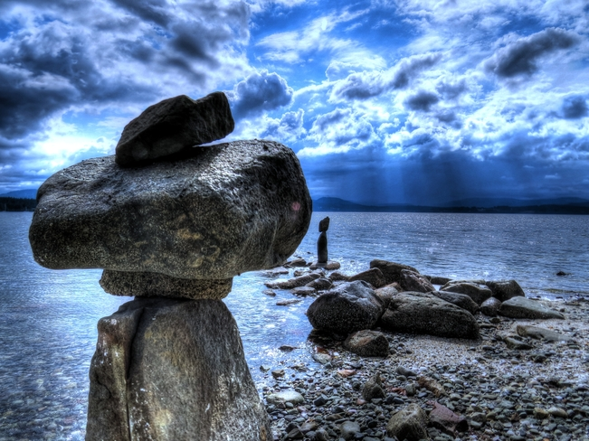 Rock Statues at Patricia Bay, Sidney B.C. North Saanich, BC