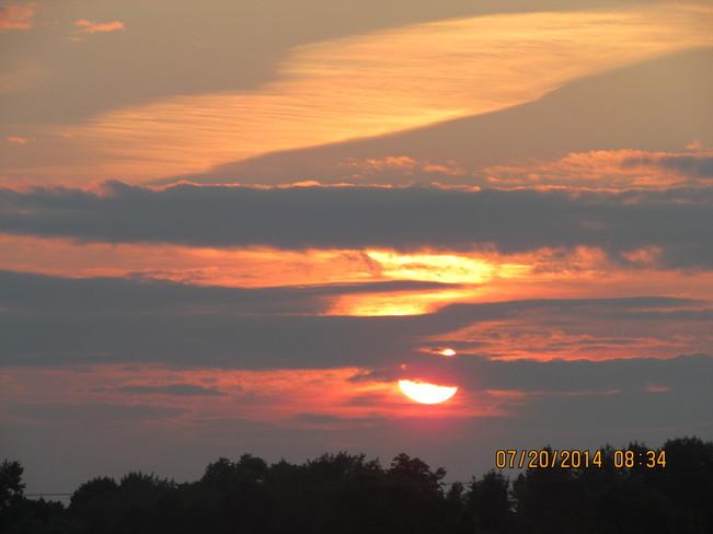 Sun set July 2014 Peterborough, ON
