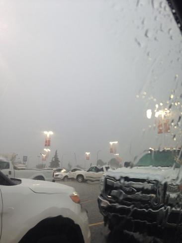 giant rain and hail storm Red Deer, Alberta Canada