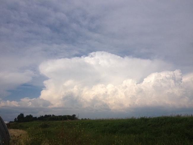 southern alberta storm passing Acme, Alberta Canada