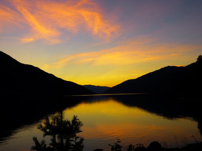evening sunset Revelstoke, BC