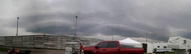 Scary Shelf Cloud Grand Bend Motorplex, Grand Bend, ON