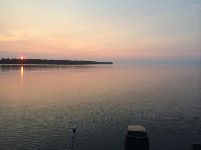 a beautiful night to fish North Bay, Ontario Canada