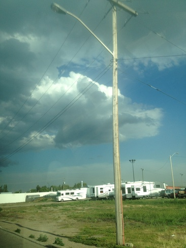 crazy weather Brooks, Alberta Canada