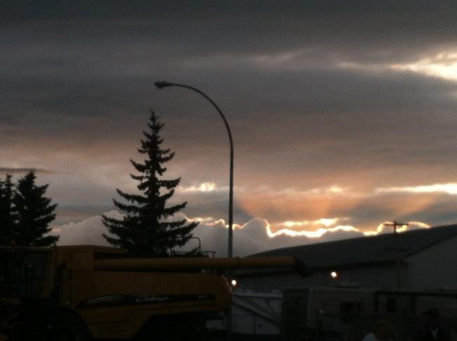 a silver lining Vegreville, Alberta Canada