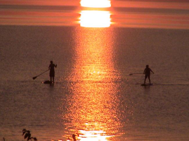 sunset on Georgian Bay July 2014 Wymbolwood Lodge - Georgian Bay