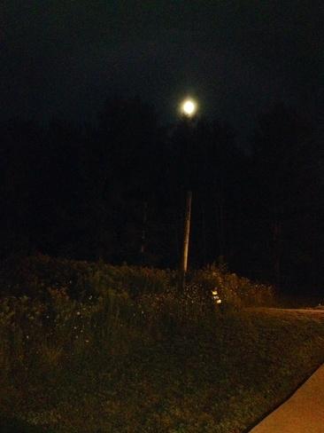 super moon Bracebridge, Ontario Canada