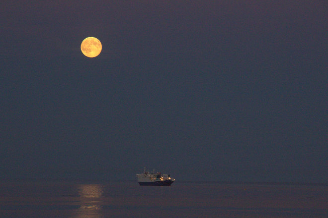 Super moon Sunday Colwood, BC