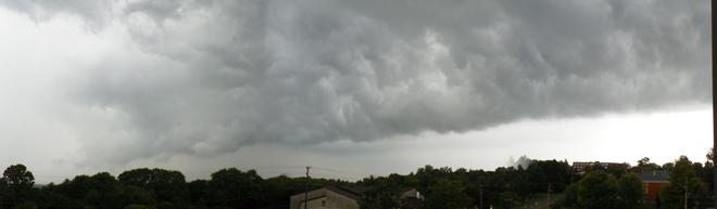 While thunder storm over Orillia Orillia on