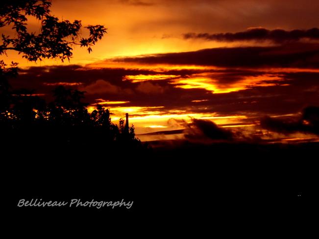 Sun Sets Amherst, NS