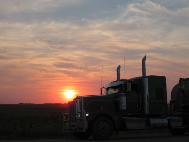 Big Truck on the Move Kindersley, SK
