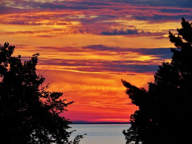 Fiery sky tonight. North Bay, ON