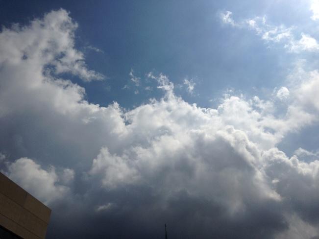 dark clouds Windsor, Ontario Canada