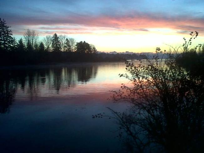 Sun Setting Comox Valley, British Columbia