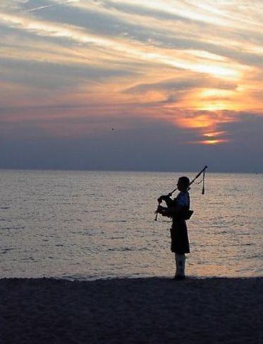 Beach Sunset Bagpiper Southampton, ON
