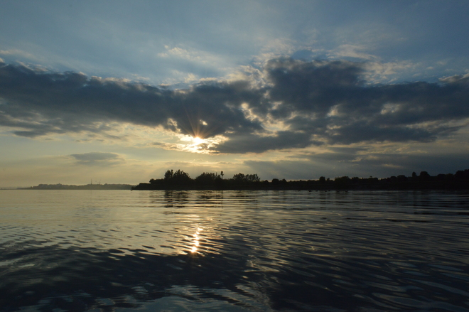 "Sunset over Lake Ontario at Ajax Waterfront Park 43°48'55.35""N, 79° 1'5.68""W"