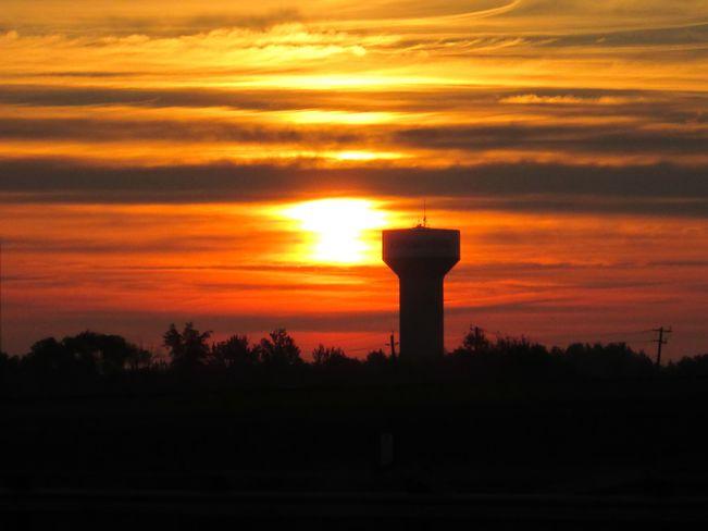 Sunrise in Kapuskasing, Ontario. Kapuskasing, ON