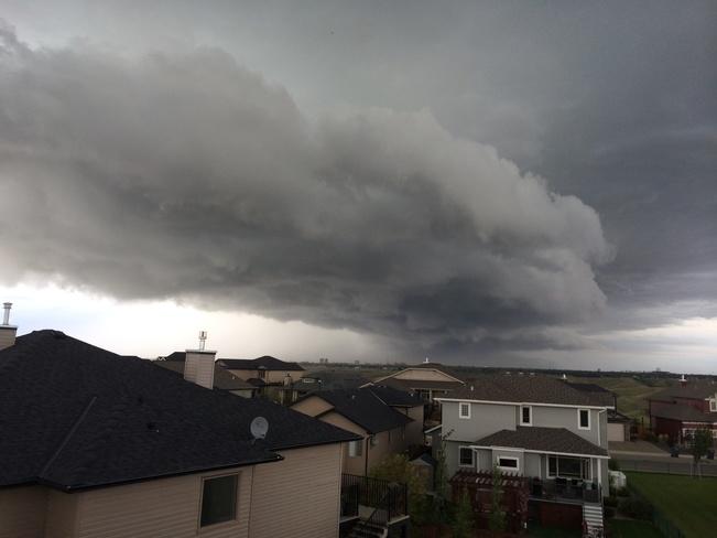 fast clouds Lethbridge, Alberta Canada