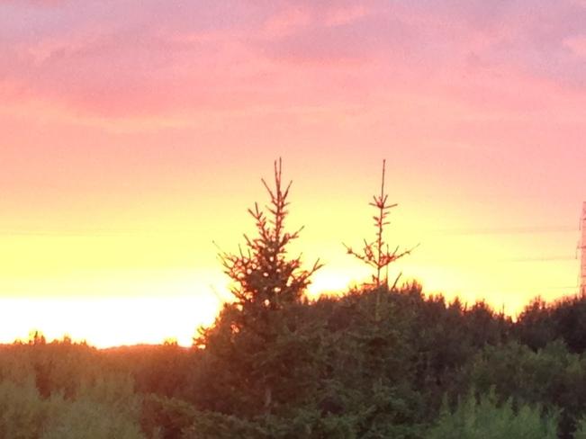 Sunset at 8:15 pm Edmonton, AB