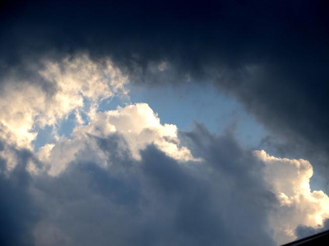 cloudy skys over London London, ON