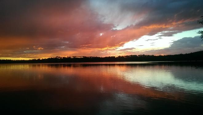 After a storm at Watch Lake , BC Ace High Resort Watch Lake BC