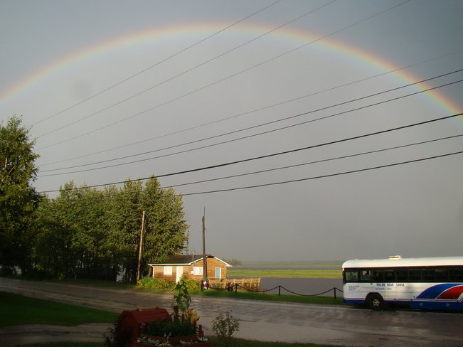 Rainbow after Thunderstorm Moosonee, Ontario