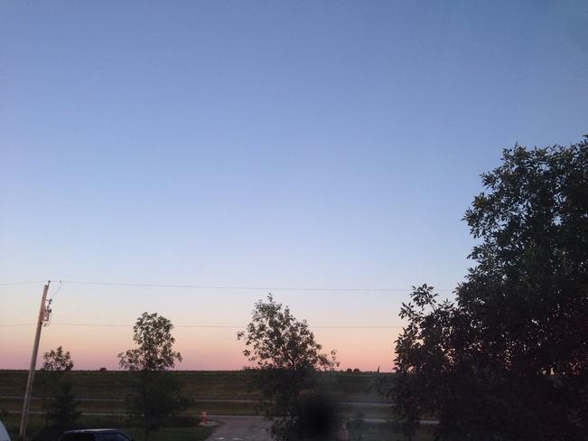 the beautiful sky Selkirk, Manitoba Canada