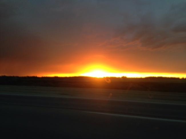 aweome sunset Edmonton, Alberta Canada