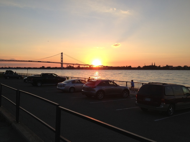 September Sunset Windsor, Ontario Canada