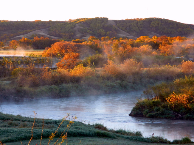 Sunrise in the Qu'Appelle valley. Craven, SK