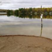 Sharbot Lake underwater dock