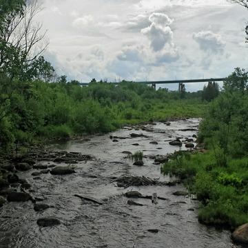 River Flow under The International Bridge-Sault Ste. Marie, ON.