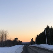 Apaisant coucher soleil