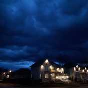 Ciel menaçant juste avant l'orage