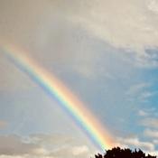 Un arc-en-ciel ce soir
