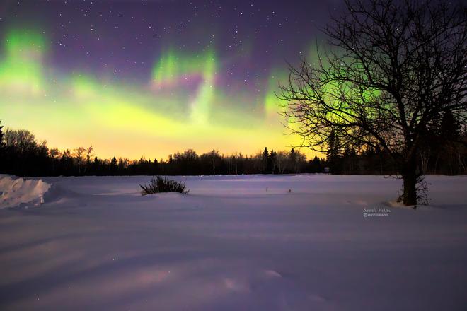 Northern Lights (Aurora Borealis) Winnipeg, MB