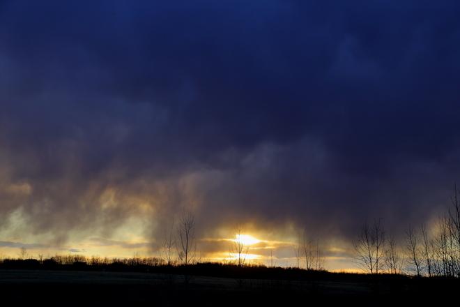 Super dark clouds Edmonton, AB