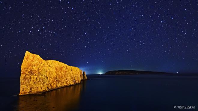 Les fabuleux ciels de la Gaspésie Rocher Percé, Percé, QC